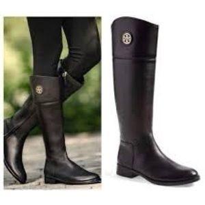 NIB Tory Burch junction black riding boots 7.5